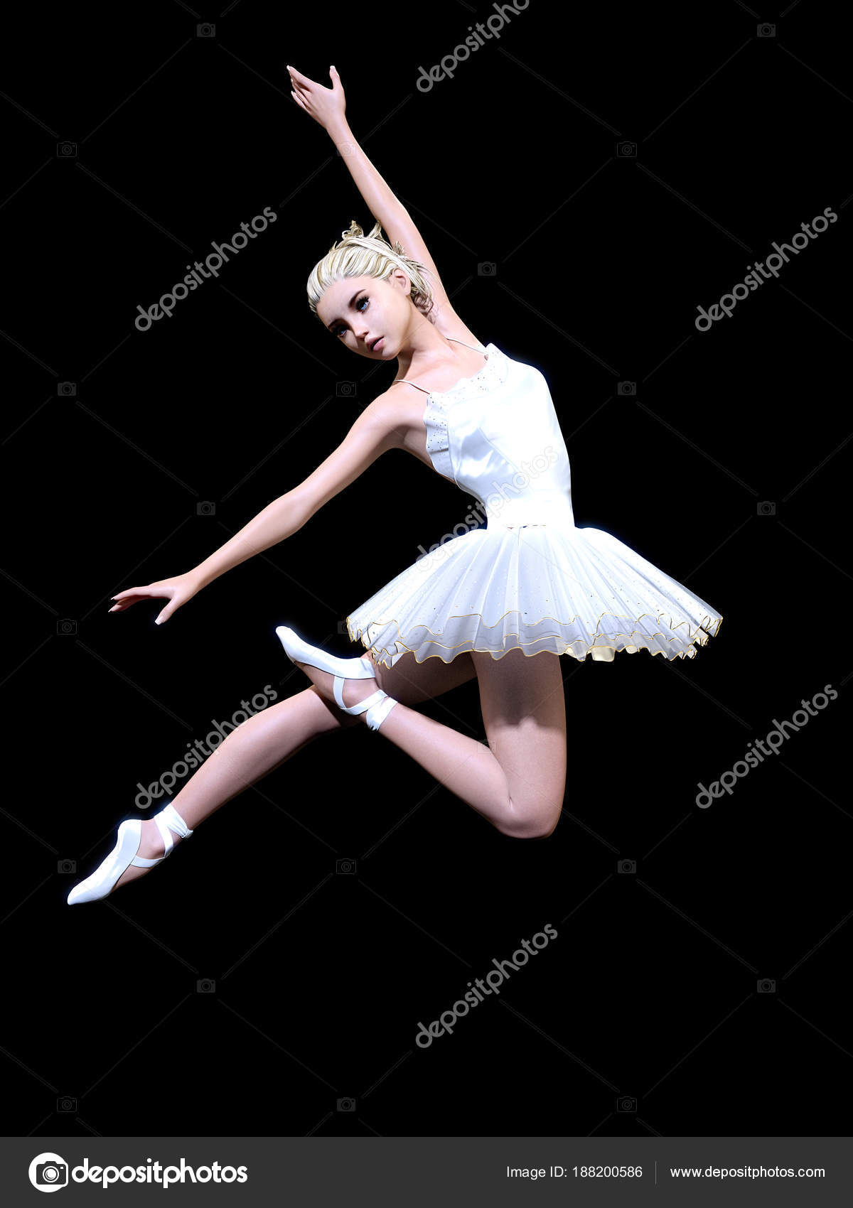 dancing ballerina white ballet