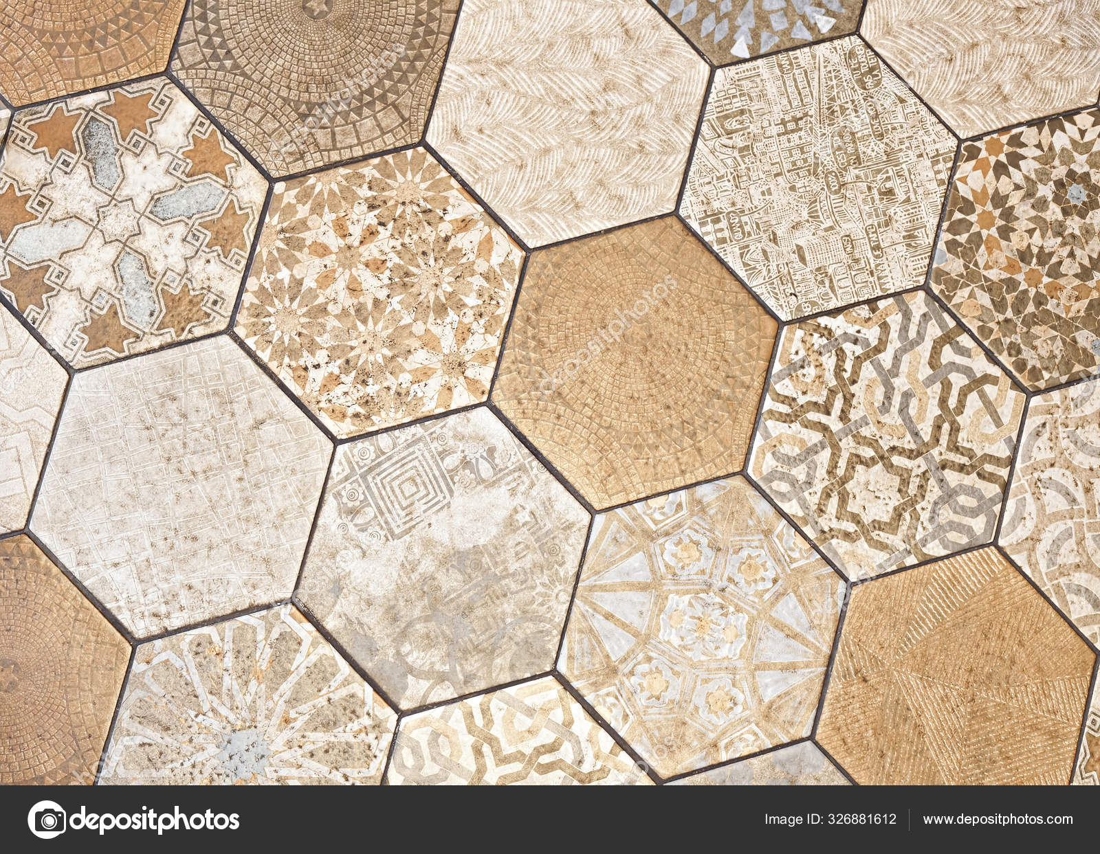 vintage rustic style hexagon tiles flooring background stock photo image by c miriristic gmail com 326881612