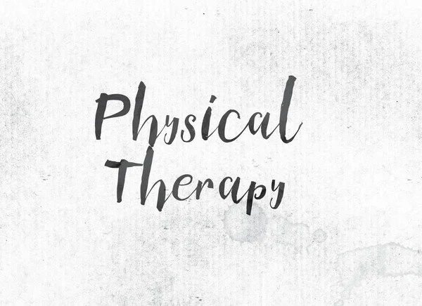 Physical Therapy Concept Painted Watercolor Word Art