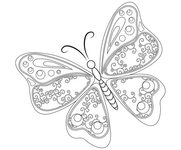 Áˆ A Butterfly To Color Stock Pictures Royalty Free Butterfly Coloring Page Images Download On Depositphotos