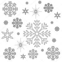 Snowflakes Christmas Coloring Page — Stock Photo © smk0473 ...