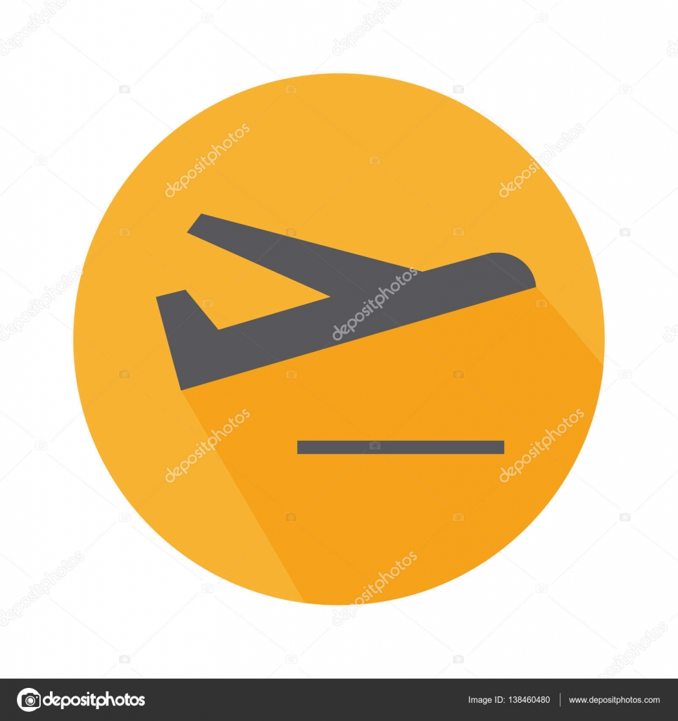 flat icon departure sign
