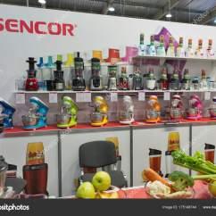 Kitchen Booths Online Cabinet Layout Tool Sencor 厨房用具摊位在中欧和东欧2017在基辅 乌克兰 图库社论照片 厨房用具摊位在中欧和