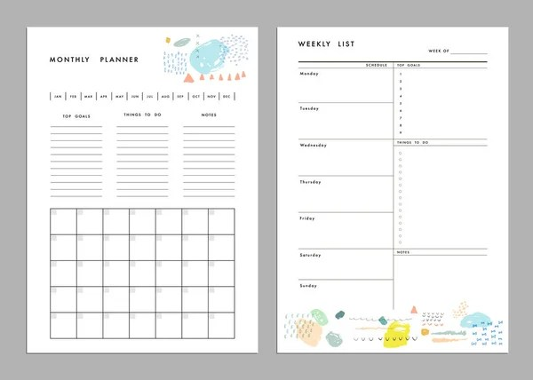 Employee weekly time sheet template — Stock Vector