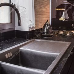 Big Kitchen Sinks Trash Can Sink Stock Photo C Photographee Eu 125653830