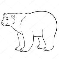 Dibujos para colorear. Lindo oso polar sonrisas  Vector ...