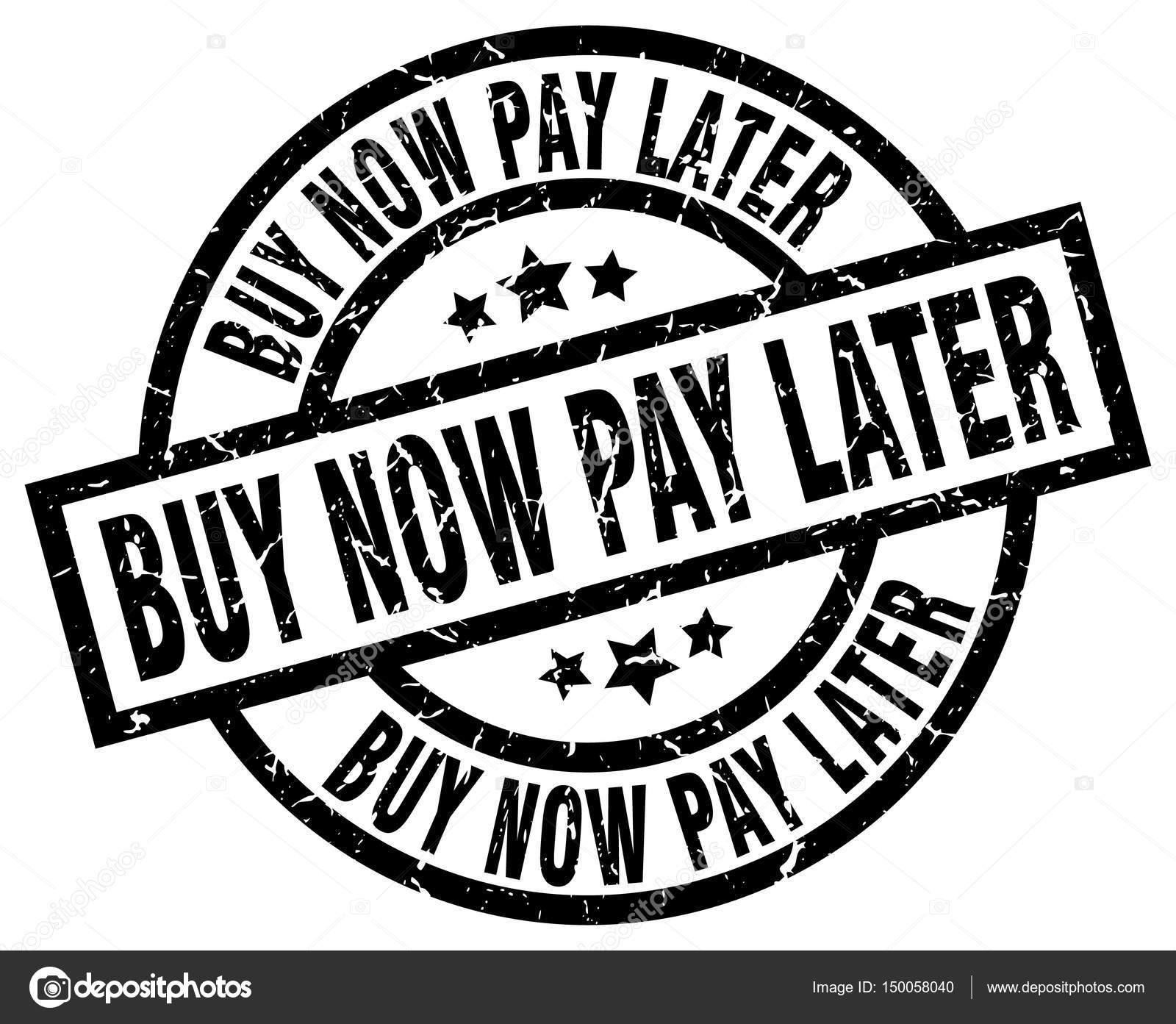 acheter maintenant payer plus tard autour de timbre grunge noir image vectorielle