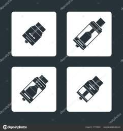 vector vaporizer atomizers types icon stock vector [ 963 x 1024 Pixel ]