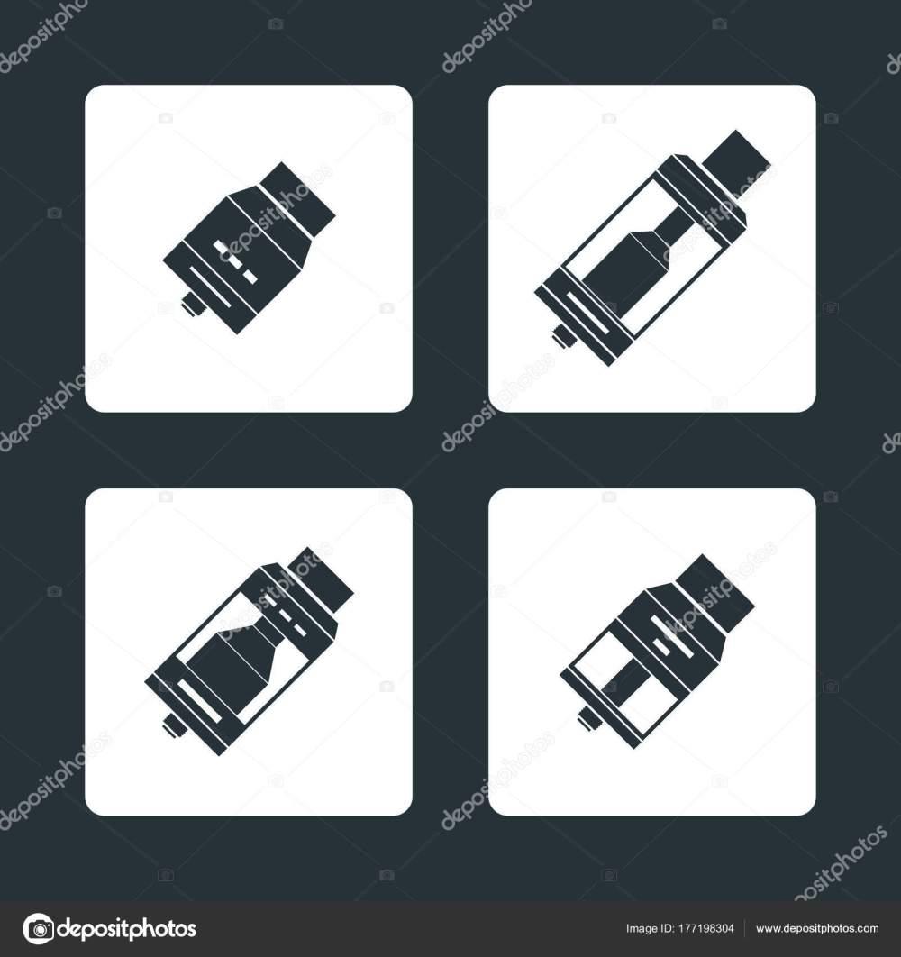 medium resolution of vector vaporizer atomizers types icon stock vector