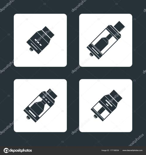 small resolution of vector vaporizer atomizers types icon stock vector