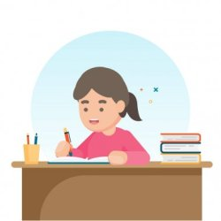 ✅ cute schoolgirl premium vector download for commercial use format: eps cdr ai svg vector illustration graphic art design