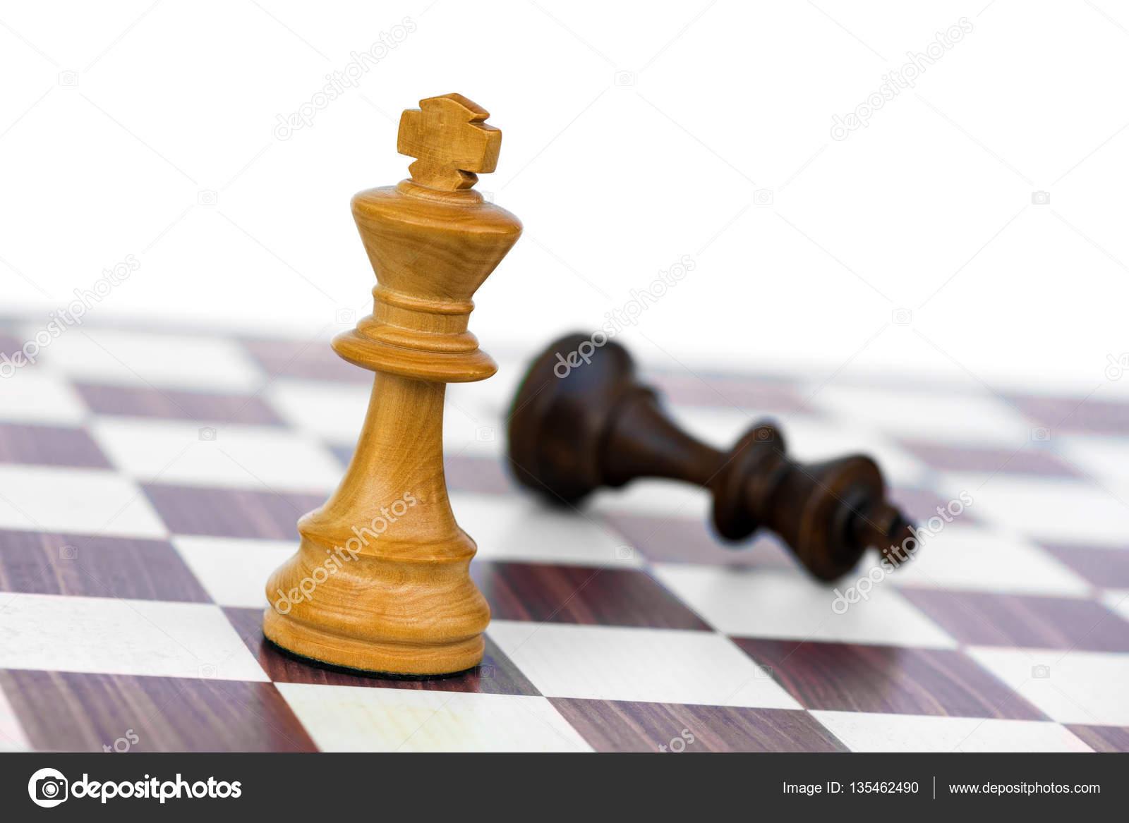 white chess king check