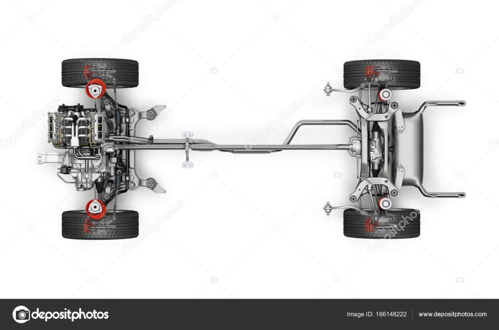 medium resolution of suv car under carriage technical 3 d rendering top view stock photo