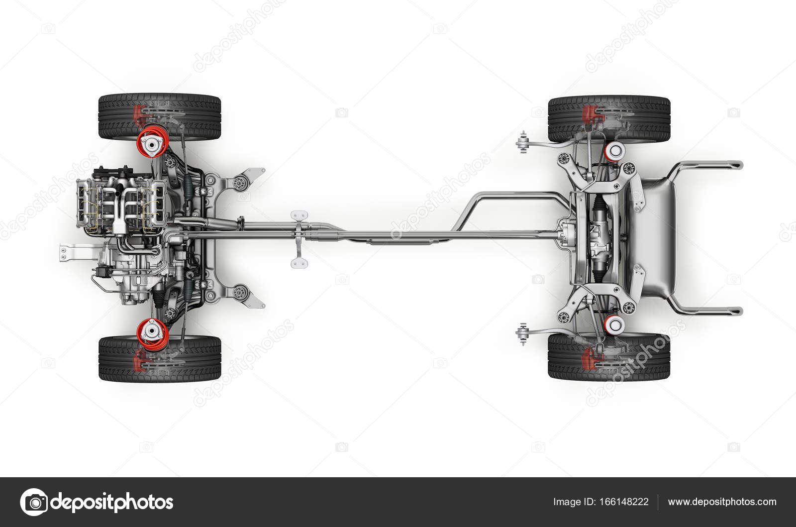hight resolution of suv car under carriage technical 3 d rendering top view stock photo