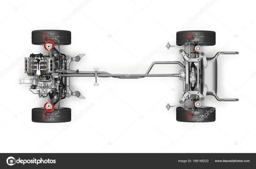 small resolution of suv car under carriage technical 3 d rendering top view stock photo