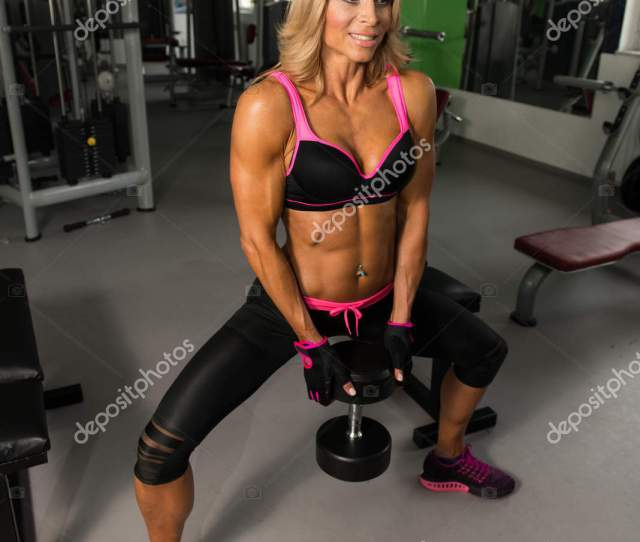 Healthy Mature Woman Doing Ass Exercise Stock Photo