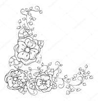 Image Of Marcos Para Colorear De Flores Contorno Vertical