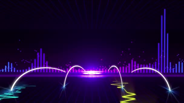 Animated Wallpaper For Kenwood Car Stereo Seamless 3d Abstract Animation Of Vibration Graph Pulse Or