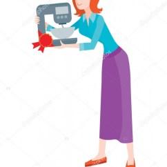 Kitchen Aid Bowls Farmhouse Faucet 女人买搅拌机用碗发售 折扣 图库矢量图像 C Robuart 139169544 女人买碗发售混合器 在家用电器上的折扣 厨房用具用齿轮驱动的机制来旋转套的打手在碗里的食物 Tirring 搅拌或跳动