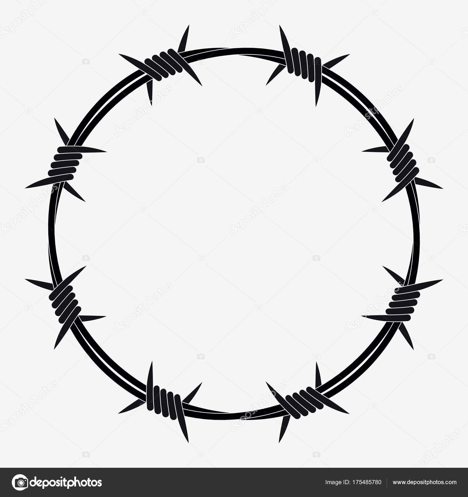 Barbed Wire Of Circle Shape