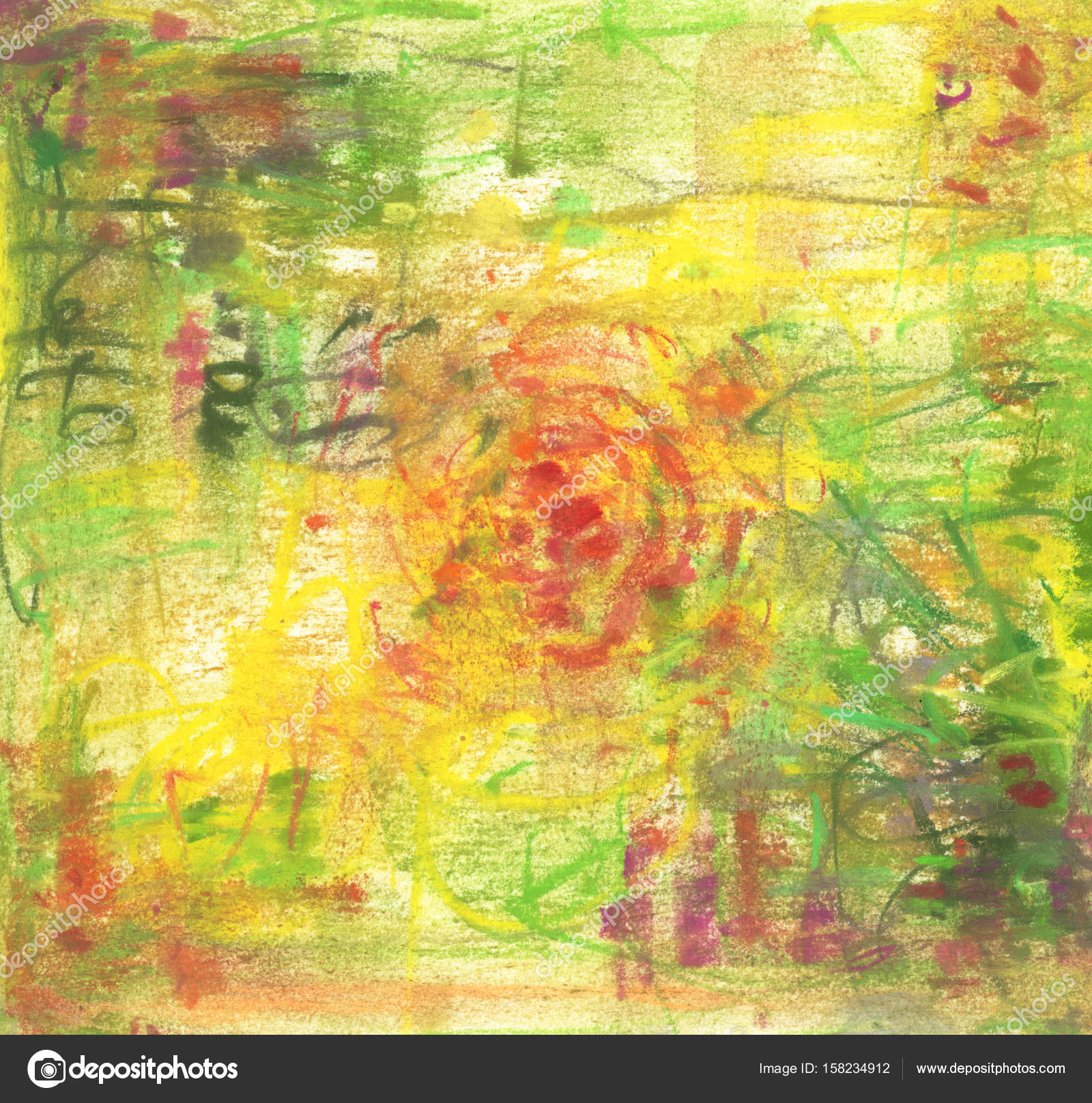 abstract pastel painting with