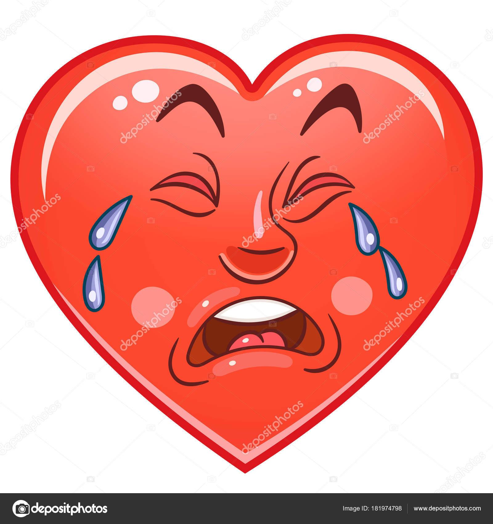 Coração Emoticons Smiley Emoji imagem vetorial de