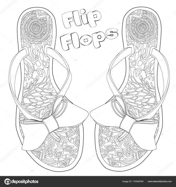 flip flop coloring page # 18