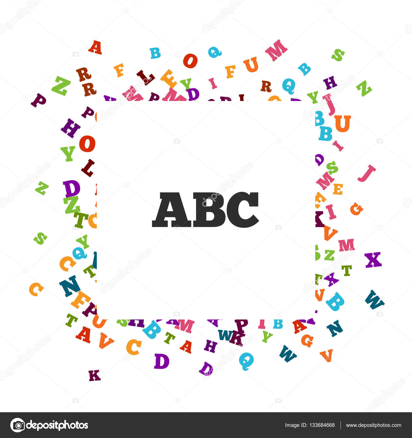 abstract black alphabet ornament