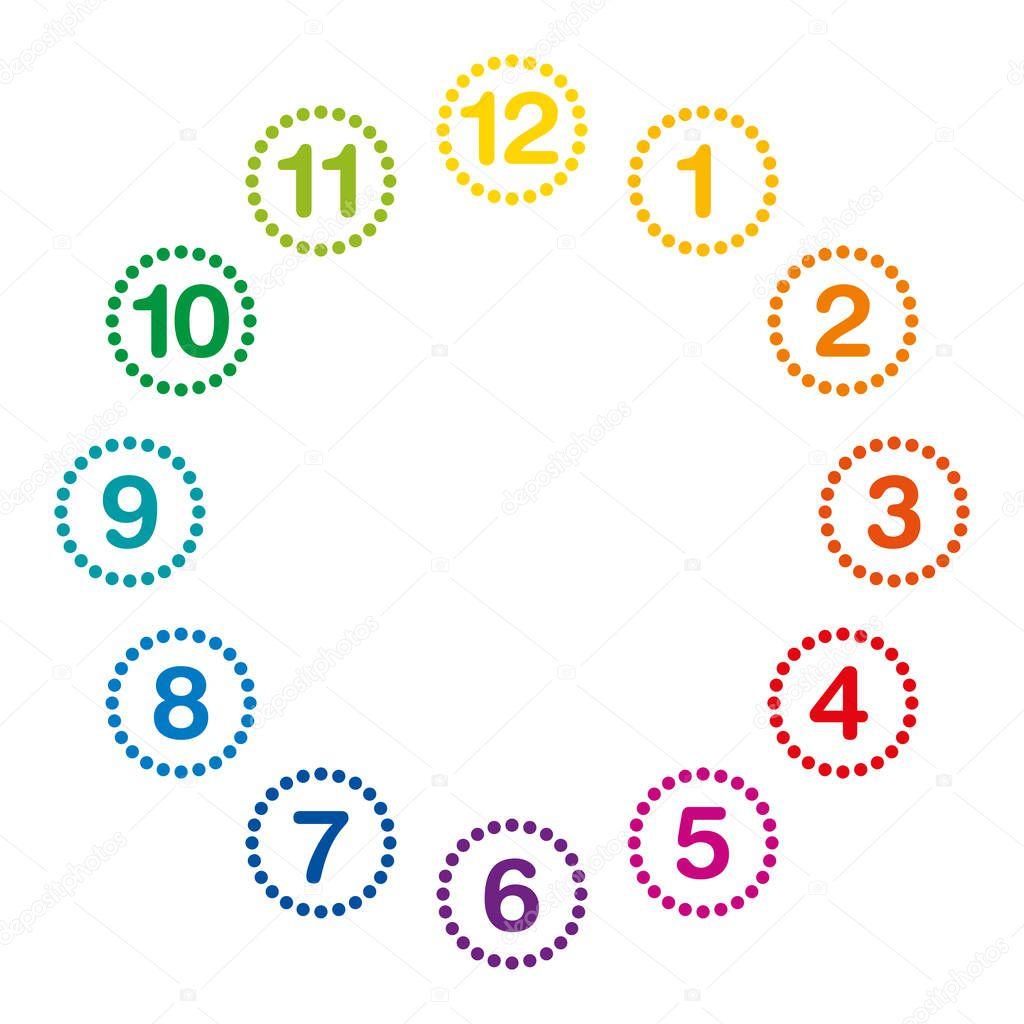 Circulos De Colores Con Numeros
