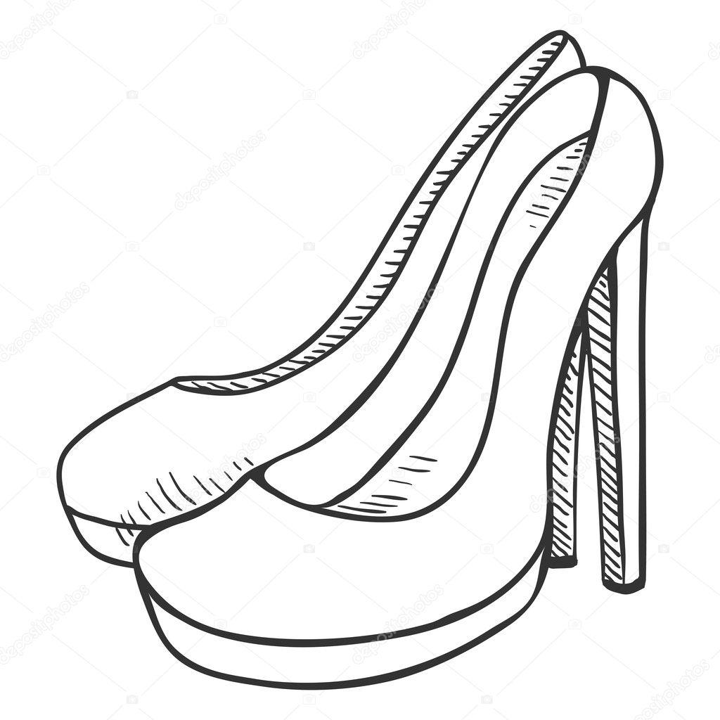 Pair Of Women High Heel Shoes