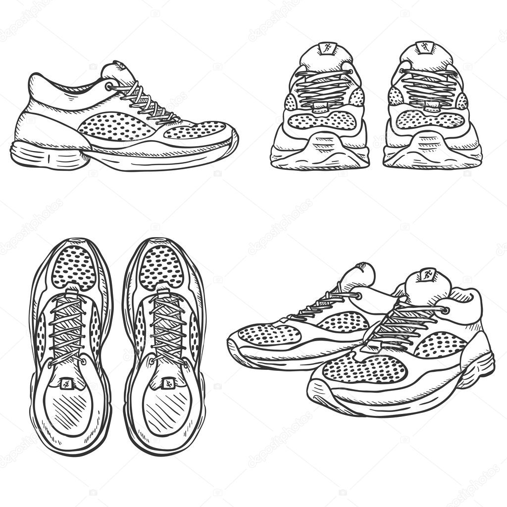 Set Of Sketch Running Shoes