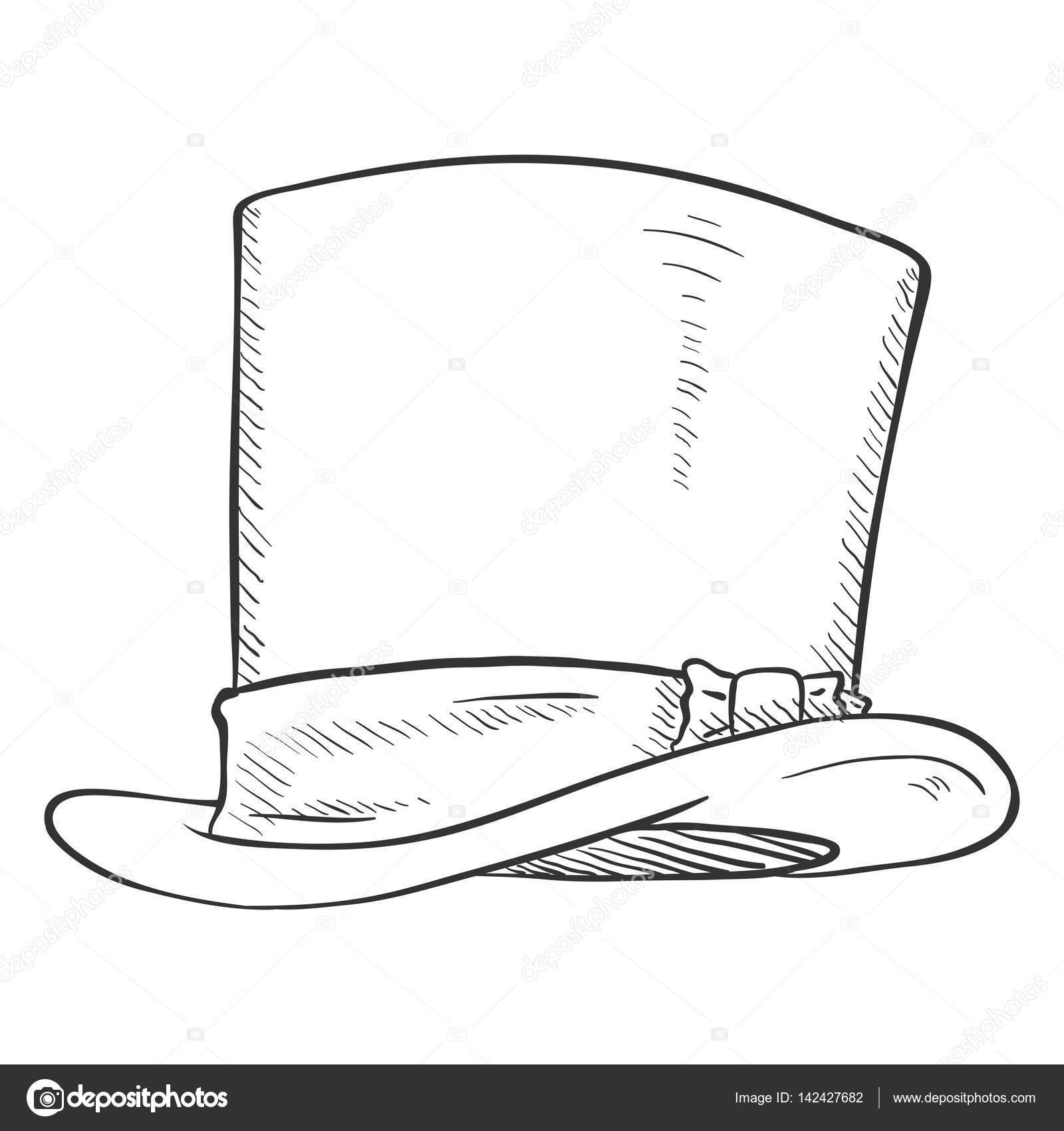 Dibujo De Sombrero De Cilindro