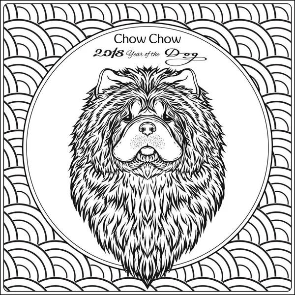 Šablona s psí hlavou stylizované maorské tvář tetování
