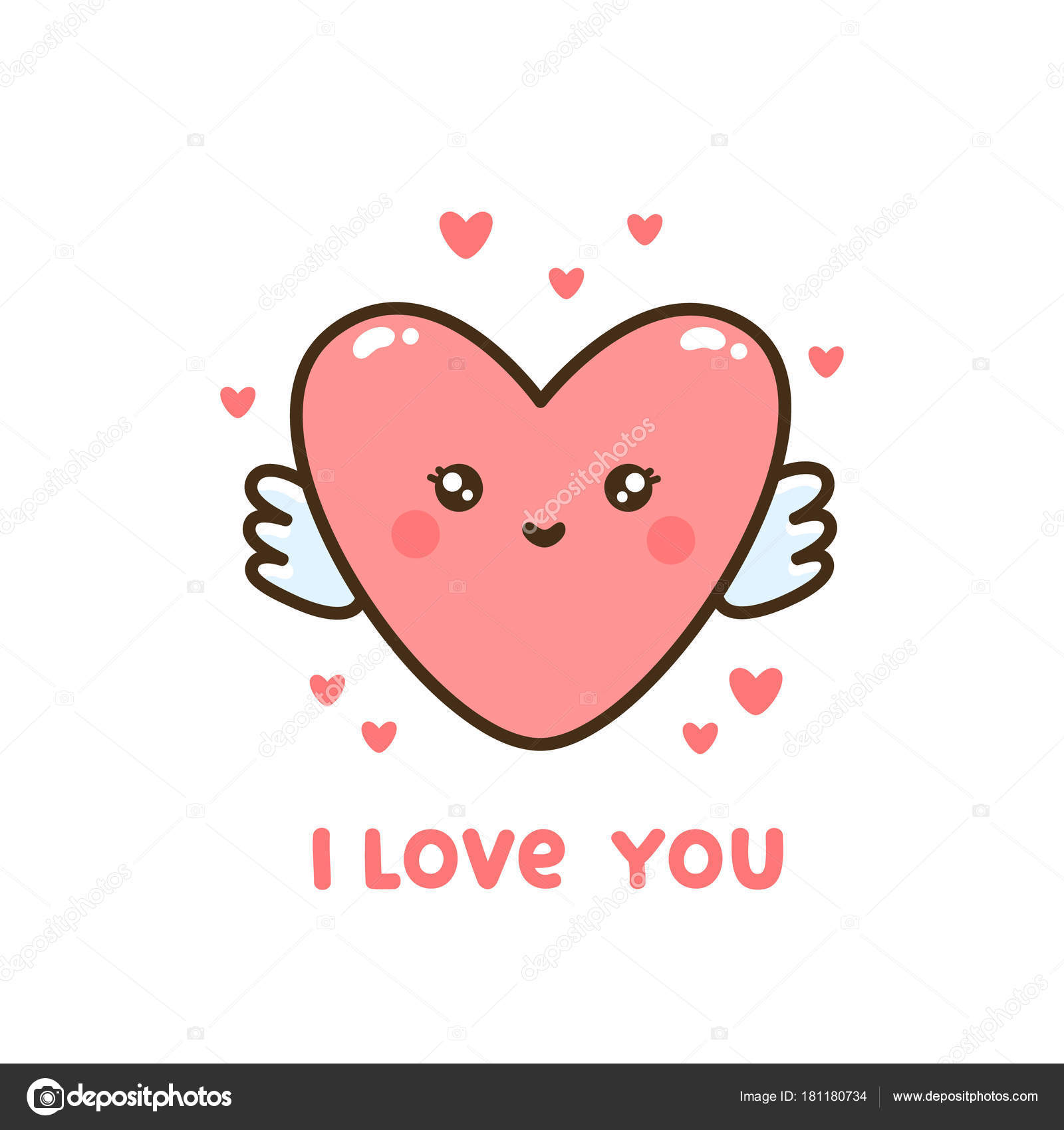 Love You Bilder Cute Heart Quote Love You Can Used Sticker Patch Card ⬇ Vector Image By © Viaire | Vector Stock 181180734