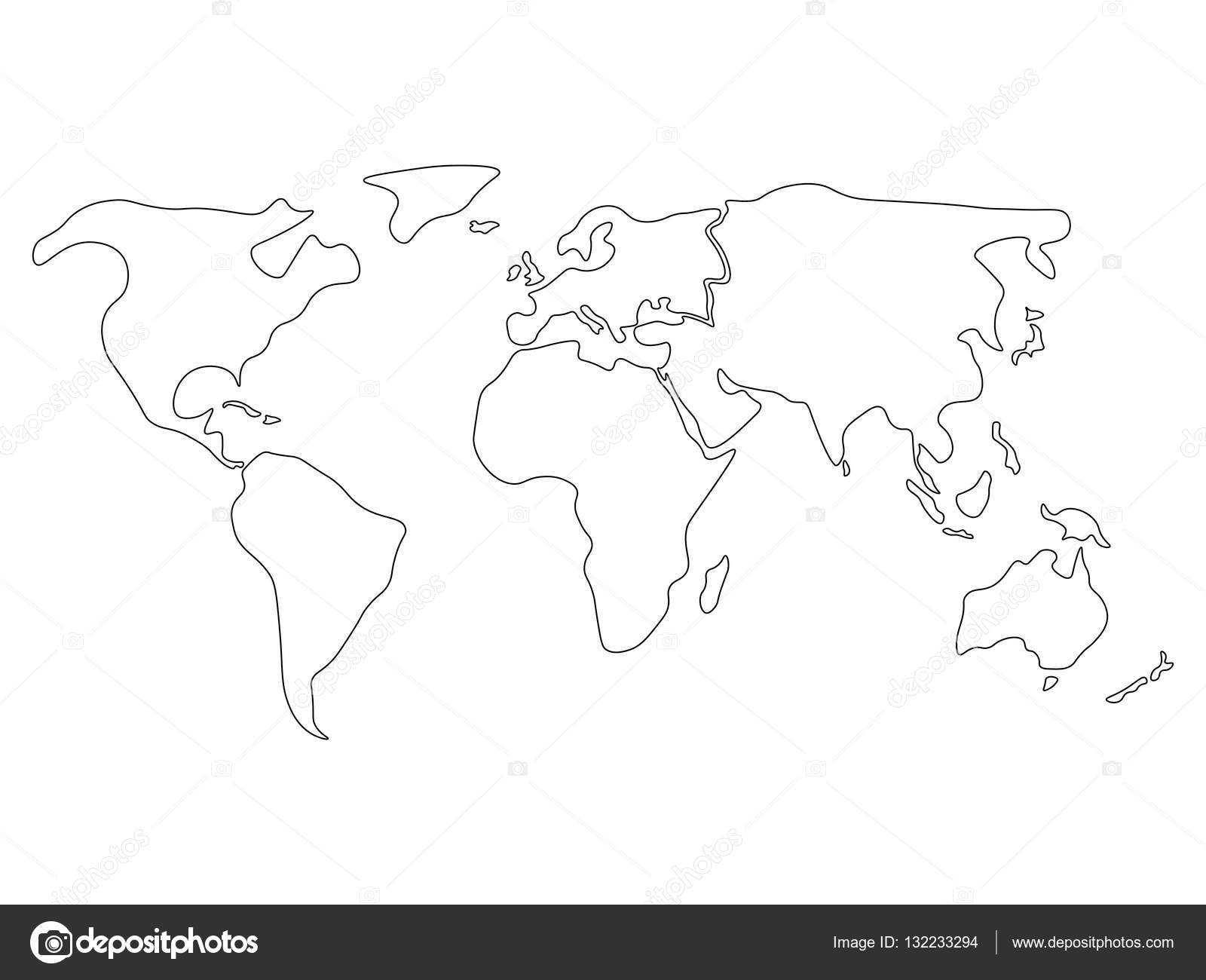 Iector Map Of World Simple