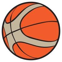 Pgina de libro para colorear, bola de baloncesto. Versin