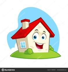 Vector Illustration Funny House Cartoon Style Stock Vector © vector5000 #185695258