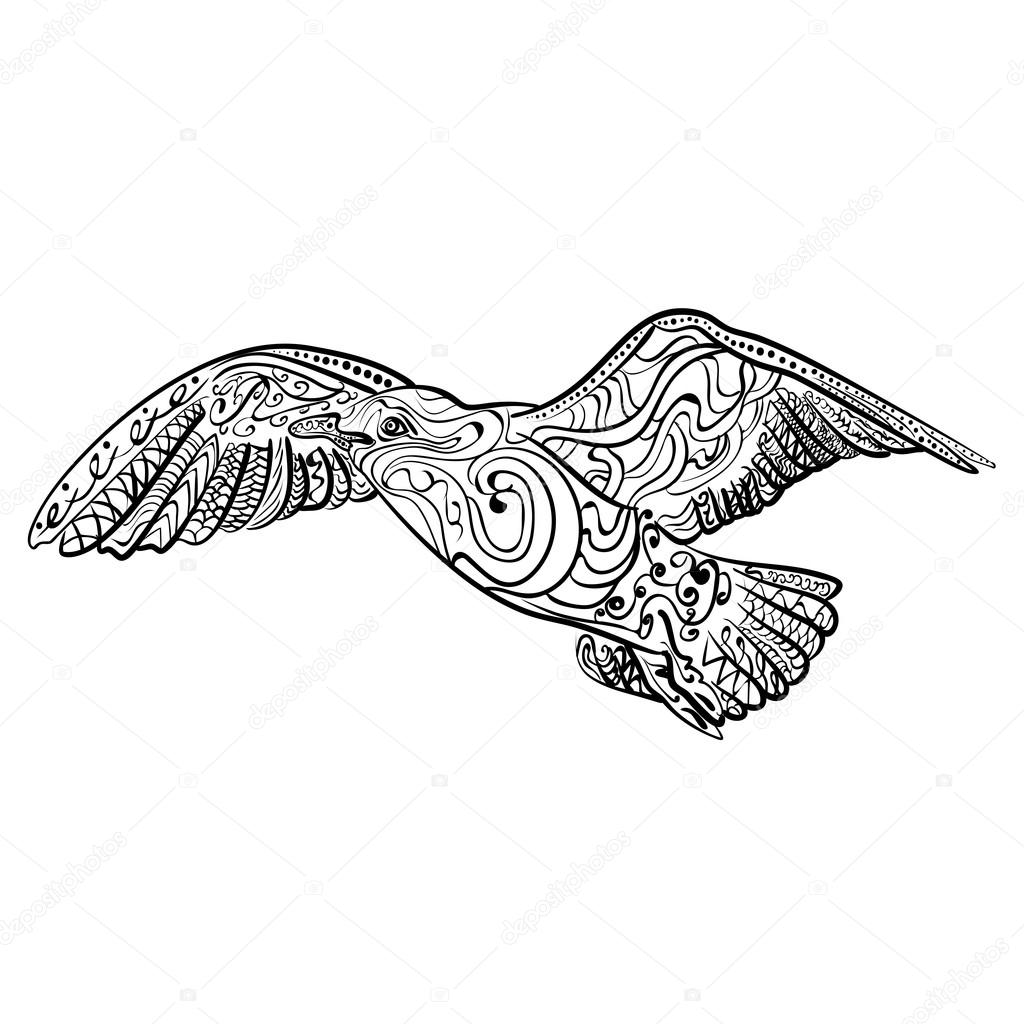 Fliegende Möwe Malvorlage