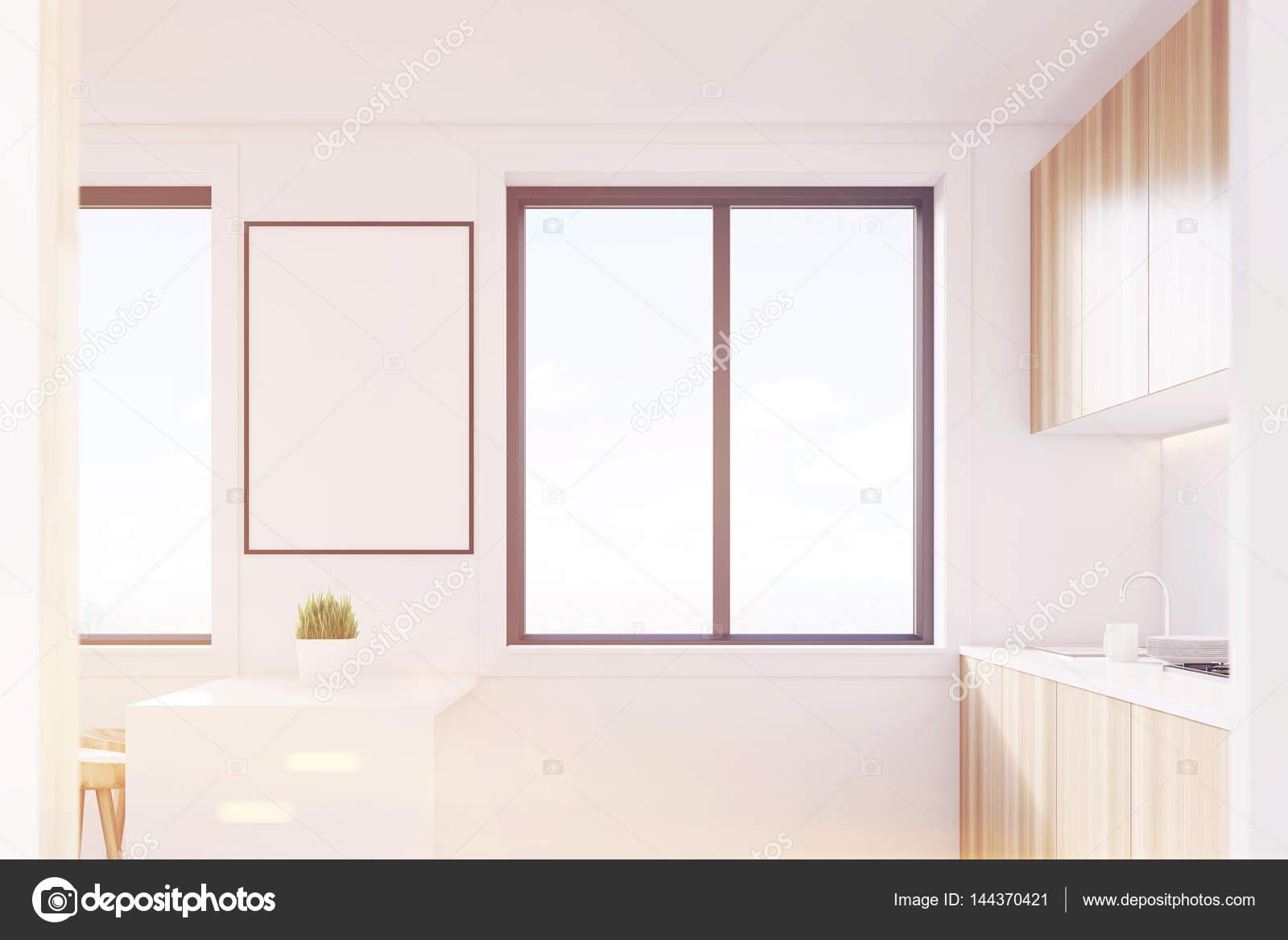light kitchen table cement sink 侧视图 轻木厨房室内色调 图库照片 c denisismagilov 144370421 用一张桌子 两个凳子和台面的轻木厨房室内的侧面图 与它们之间挂着一张海报的大窗户 3d 渲染 小样 色调图像