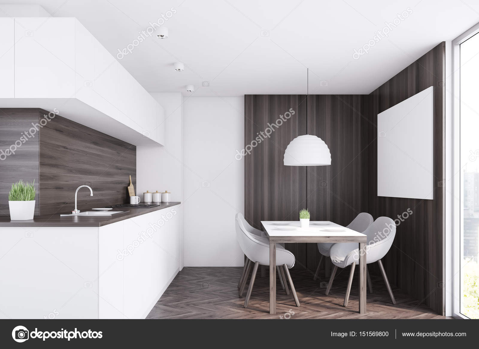 kitchen counters epoxy flooring 昏暗的厨房柜台 表 图库照片 c denisismagilov 151569800
