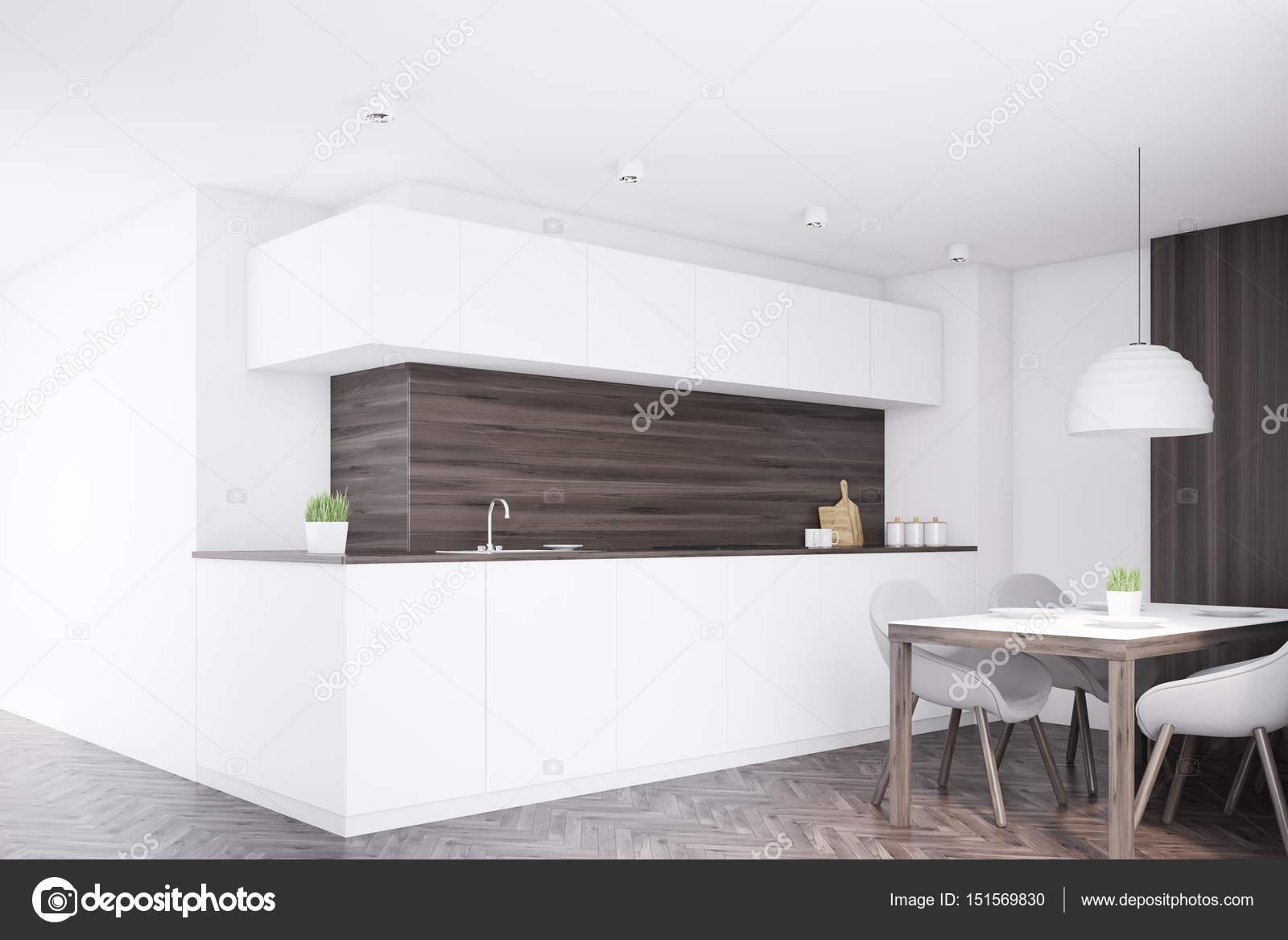 kitchen table nook curtain sets 昏暗的厨房柜台 桌子 角 图库照片 c denisismagilov 151569830 角落里的厨房内政部与黑暗的木墙 白色的台面和一张餐桌和四把椅子 3d 渲染 小样 照片作者denisismagilov