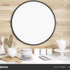 Kitchen Tables Round Lighting Pics 厨房的桌子圆海报 图库照片 C Denisismagilov 157236608