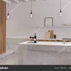 Kitchen Ovens Double Sinks For Sale 白色的厨房 烤箱 海报栏大理石 图库照片 C Denisismagilov 160547554