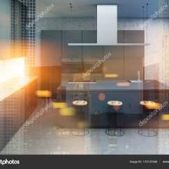 Concrete Kitchen Table Gift Baskets 混凝土厨房 灰色的桌子关闭色调 图库照片 C Denisismagilov 172137556