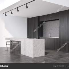 Kitchen Corner Sinks Counter Stools 黑木厨房角落 图库照片 C Denisismagilov 176514042 一个黑色的木制厨房的角落 大理石酒吧和两个凳子 一个水槽在背景 3d 渲染模拟 照片作者denisismagilov