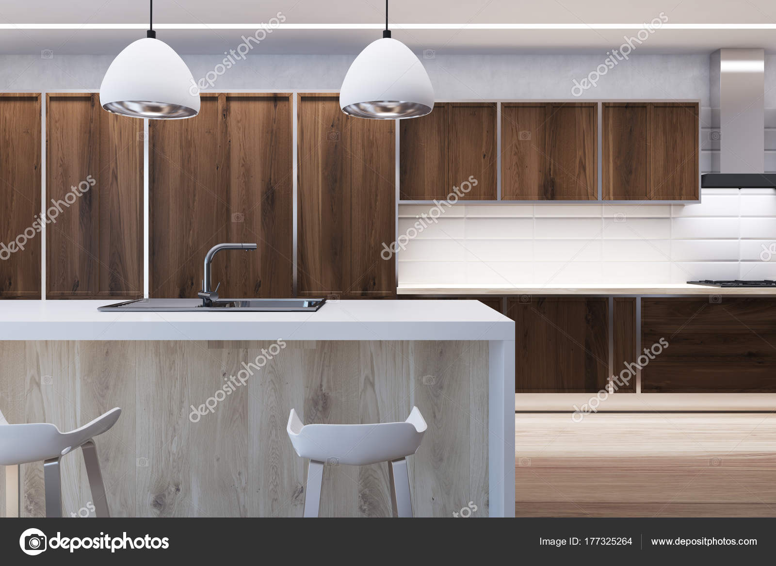 kitchen bar lights retro table and chairs 黑木厨房与酒吧关闭 图库照片 c denisismagilov 177325264