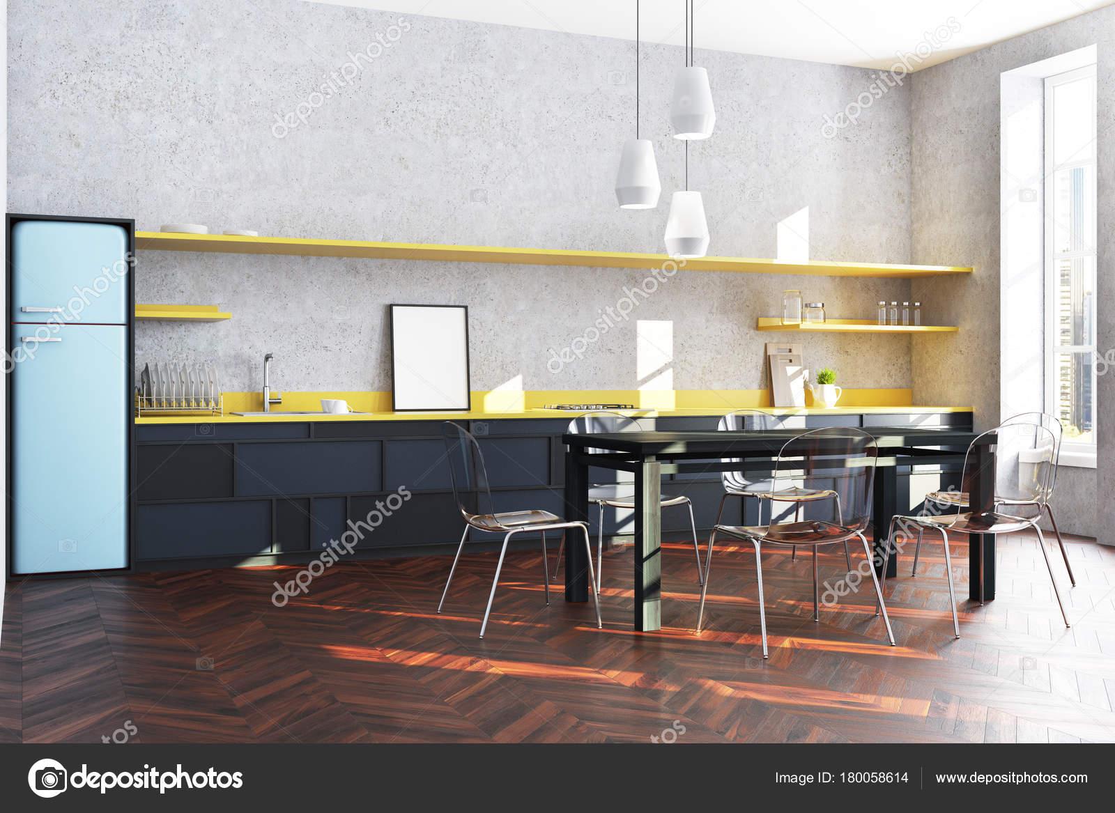 corner bench seating for kitchen how to build cabinet doors 蓝色冰箱厨房角落 图库照片 c denisismagilov 180058614