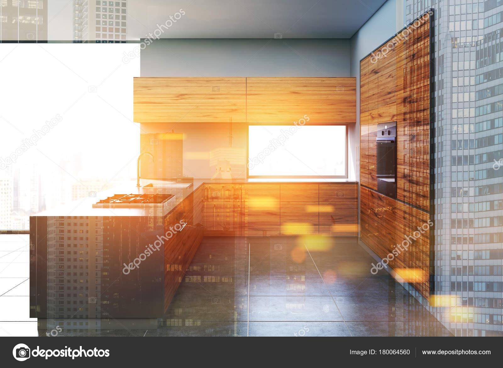 kitchen shades cabinet moulding 灰色和深色的木制厨房色调 图库照片 c denisismagilov 180064560