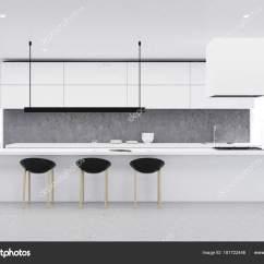 Concrete Kitchen Table America's Test Knives 混凝土地板厨房 白表 前 图库照片 C Denisismagilov 181722446 混凝土地板厨房灰色的墙壁 白色台面和桌子与黑色的椅子 全景窗口 3d 渲染模拟 照片作者denisismagilov
