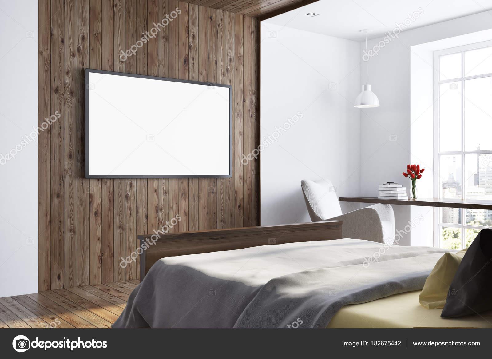 433 slaapkamer boven met tv zijaanzicht van de slaapkamer